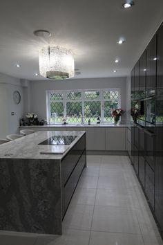 Kitchens Stevenage Home - Kitchen Ergonomics Designed and installed Under Counter Lighting, Cabinet Space, Hidden Storage, Home Kitchens, Creative Design, Pear, Japanese, Grey, Modern