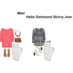 Mavi Hallie Distressed Skinny Jean