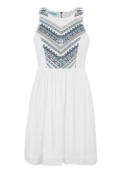 white dress with embroidery and lace #maurices