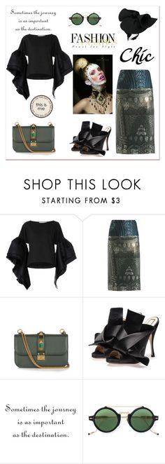"""This is me!"" by zabead ❤ liked on Polyvore featuring Leal Daccarett, Mary Katrantzou, Valentino, Jacques Marie Mage and Gucci"