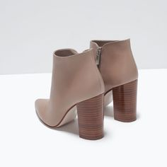 ZARA - NEW THIS WEEK - POINTY HIGH HEELED LEATHER BOOTS
