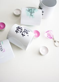 Cute and motivating mugs with print quotes. Buy them at EpicDesignShop.com.