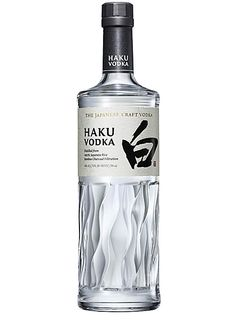 House of Suntory Haku Japanese Vodka - Harvey Nichols Bottle Design, Wine Design, Alcohol Bottles, Liquor Bottles, Beverage Packaging, Bottle Packaging, Vodka Drinks, Alcoholic Drinks, Japanese Vodka