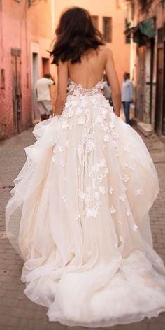 lace blush wedding dresses 2