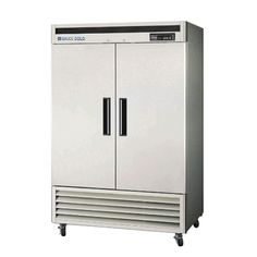 The Maxx Cold Double Door Commercial Reach-In Refrigerator is a two section refrigerator with two solid hinged doors. The unit has a storage capacity of 49 cu.
