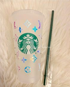 Monogram Designer Starbucks Cold Cup reusable plastic Starbucks cold cup Lv Design premium vinyl Handwash only Personalized Starbucks Cup, Custom Starbucks Cup, Starbucks Logo, Starbucks Tumbler, Personalized Cups, Starbucks Drinks, Starbucks Cup Design, Starbucks Locations, Reusable Cup