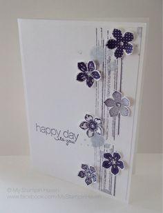 Gorgeous Grunge, Petite Petals, Friendly Phrases, Petite Petals punch wedding card