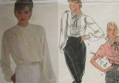 Vintage Vogue Sewing Pattern 7676 Misses Blouse Size 10 Uncut $3.75