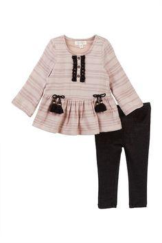 Jessica Simpson Tassel Tunic & Legging 2-Piece Set (Baby Girls)
