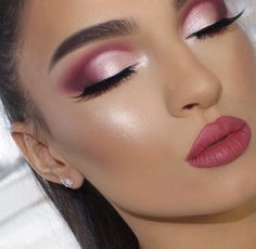 WEBSTA Can't remember the last time I did a look without a winged eyeliner So happy you guys liked this look Pale Makeup, Glam Makeup Look, Makeup 101, Makeup And Beauty Blog, Makeup Inspo, Eyeshadow Makeup, Makeup Inspiration, Makeup Ideas, Makeup Without Eyeliner