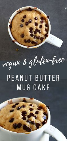 Dessert Recipes 632333603919992534 - This Easy & Healthy Peanut Butter Mug Cake is super delicious and can be whipped up in just 3 minutes. It is refined-sugar free, gluten-free, and can be made vegan. Source by iwonian Easy No Bake Desserts, Vegan Dessert Recipes, Vegan Sweets, Desert Recipes, Vegan Recipes Easy, Baking Recipes, Cake Recipes, Easy Healthy Deserts, Healthy Mug Cakes