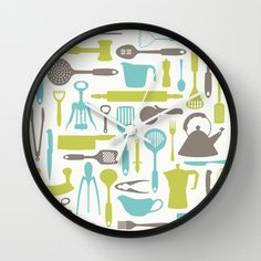 LET'S COOK! Wall Clock by Needs & Wishes - $30.00