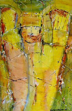 Samurai 3,Olie på gips (60x40) 2011 af Svend Christensen