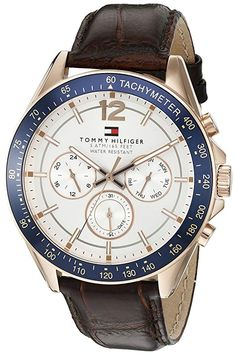5dfe008b687 Tommy Hilfiger Men s 1791118 Sophisticated Sport Watch with Brown Leather  Band Mvmt Watches