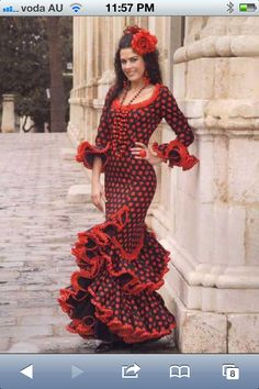flamenco dress Most Beautiful Dresses, Beautiful Costumes, Flamenco Dancers, Flamenco Dresses, Flamenco Costume, Red Frock, Spanish Dress, Tango Dress, Gala Dresses