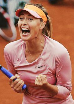 2014 French Open Fourth Round; Maria Sharapova def. Sam Stosur 3-6 6-4 6-0 #WTA #Sharapova #RolandGarros