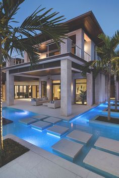 15 Relaxing and Dramatic Tropical Pool Designs I love the islands with trees, but not sure about dirt in pool? Source by hafizebetul The post 15 Relaxing and Dramatic Tropical Pool Designs appeared first on The Most Beautiful Shares. Design Exterior, Modern Pools, Luxury Pools, Luxury Cars, Modern Mansion, Modern Houses, Swimming Pool Designs, Cool Pools, Awesome Pools