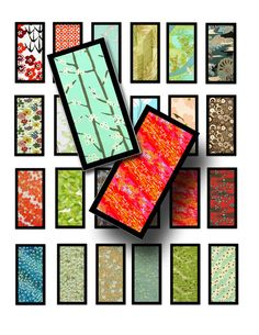 Japanese papers domino collage sheet is great for scrap booking, making domino pendants, or even for small gift tags.