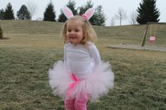 How cute is this little bunny with snow flakes coming down on her? This is a fun and adorable bunny tutu set that will keep your little girl