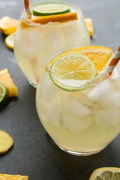 White Wine Citrus Sangria - a ginger infused drink recipe