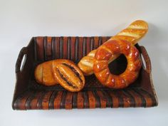 Tray Large Vintage Bamboo and Embossed Wood by HobbitHouse on Etsy