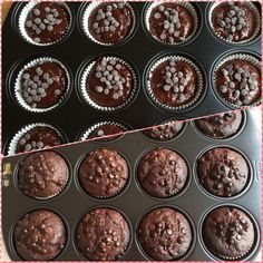 super rich homemade chocolate muffins!