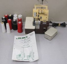 shopgoodwill.com: Juki MO-104N Serger Sewing Machine With Threads