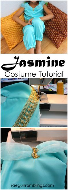 Princess Jasmine or Genie Costume Tutorial at Rae Gun Ramblings