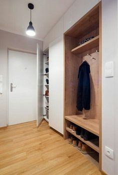 Concealed behind sliding door in hall so that it is hidden when the door is open and visible when shut. Home Room Design, Home Interior Design, Living Room Designs, House Design, Home Entrance Decor, House Entrance, Entryway Decor, Hallway Furniture, Home Decor Furniture