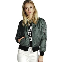 Women short coat ladies bomber jackets Solid color Polyester loose overcoat 2017 New Arrival female casual Wine Green Black MY30  #cool #dress #love #glam #fashionista #instalike #sweet #instafashion #fashion #beauty
