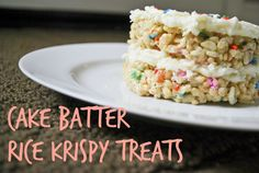 4 Tbsp butter 6 cup marshmallows scant 1 cup dry cake mix (yellow, white, or funfetti) 1 tsp vanilla 2 cups 1-inch cubed cake pieces(I just...