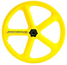 Large Aerospoke, in yellow ... beautiful !
