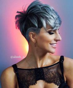 Pixie Cut With Long Bangs, Short Choppy Hair, Short Brown Hair, Short Hair Cuts, Short Hair Styles, Long Pixie, Pixie Cuts, Easy Hairstyles For Thick Hair, Latest Short Hairstyles