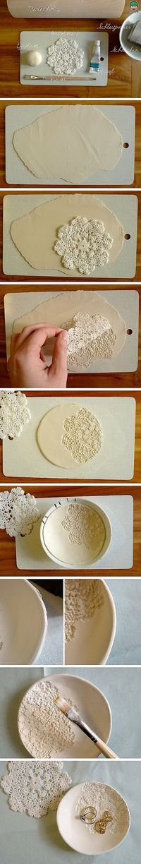 I have so many doily projects I would love to do with my wedding doilies!