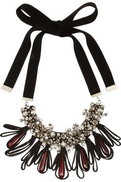 Marni | Crystal and horn necklace | NET-A-PORTER.COM