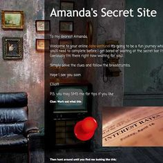 Online clue for real world escape game