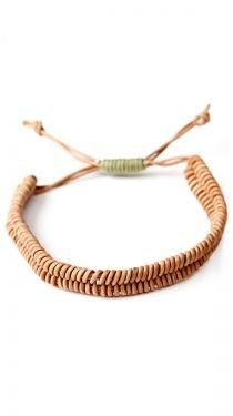 Fish Bone Bracelet, Natural - 1mm