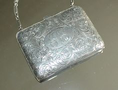 Antique Watrous Mfg Co Sterling Silver Ladies Coin Dance Purse Leather Inter | eBay