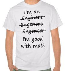 Funny Engineering T Shirt Engineer Shirt Cute by xOnceUponADesignx