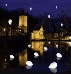 Mags Leuchtende LED-Luftballons 15er-Set weiß: Amazon.de: Garten