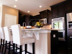 Modern Dark Wood Kitchen picking the right lights for a room :: building moxie | spot