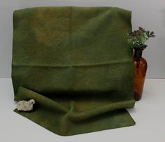 Khaki Drab Green Hand Dyed Wool for Rug by OlympicWoolWorks