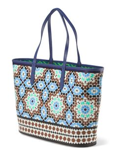 This Moroccan print open tote is great for the beach or dinner!