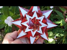 Origami Tutorial, Flower Tutorial, Diy And Crafts, Paper Crafts, Origami Stars, Artsy Fartsy, Christmas Ornaments, Origami Christmas, Projects To Try