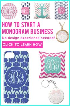 Learn how to start your own #monogram business with no design experience! Click through to learn how