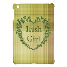 Irish Girl iPad Mini Cover- just in case she wins the iPad mini :)