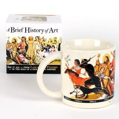 A Brief History of Art Coffee Mug  #christmas #gifts  Short video: Clever Teacher gifts