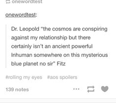 Oh, Fitz, of course that's what you think. #agents of shield #fitzsimmons