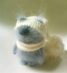 Blue Cat Kitten - Cute Miniature Amigurumi Pet Animals Knitted Toys -  Soft Toys - Stuffed Animals by MiracleStore on Etsy