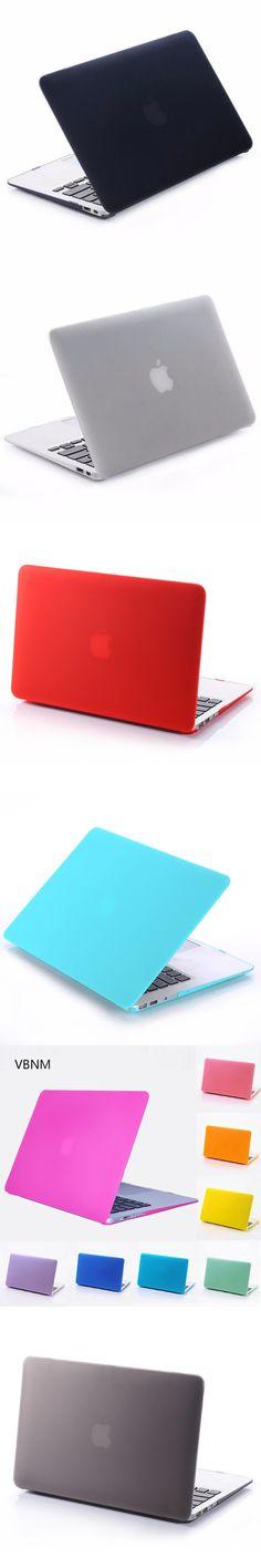 VBNM Plastic Matte Hard Case Cover for Apple Macbook Air Retina Pro 11 12 13 15 Inch Laptop Shell Case Bags for Mac Book 13.3''